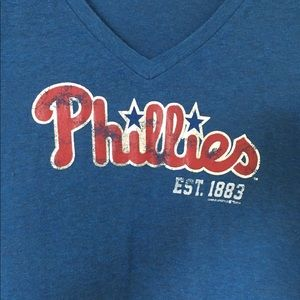 MLB Phillies Women's V-Neck
